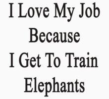 I Love My Job Because I Get To Train Elephants  by supernova23