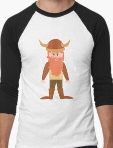 Cartoon Viking Men's Baseball ¾ T-Shirt