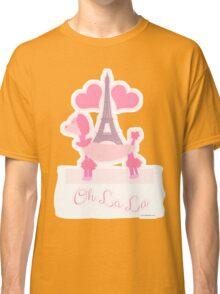 Pink Parisian Poodle Classic T-Shirt