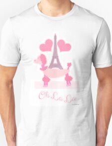 Pink Parisian Poodle Unisex T-Shirt