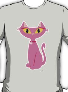 Sassy Pink Retro Cat T-Shirt
