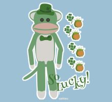 So Lucky Sock Monkey One Piece - Short Sleeve