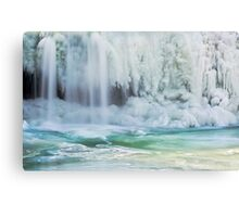 Icy Waterfall Canvas Print