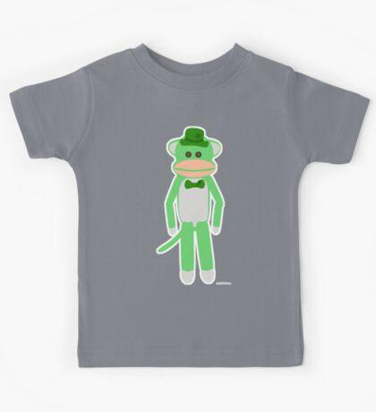 Saint Patrick's Day Sock Monkey Kids Tee