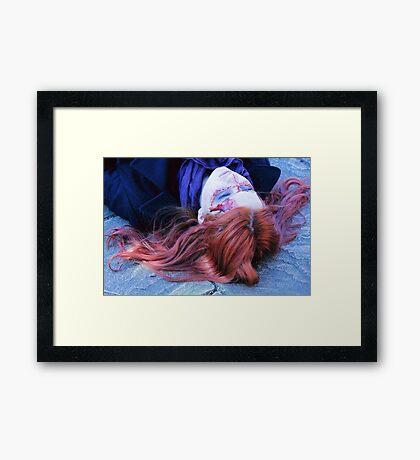 Pondlock Cosplay (Sherlock and Amy Pond) Framed Print