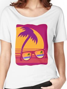 Sunglasses at Sunset Women's Relaxed Fit T-Shirt