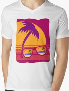 Sunglasses at Sunset Mens V-Neck T-Shirt