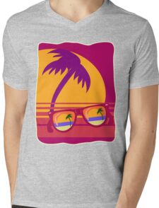 Sunglasses at Sunset Mens V-Neck T-Shirt