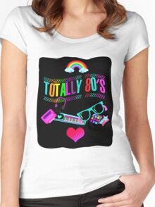 Totally 80's Fun Neon Women's Fitted Scoop T-Shirt