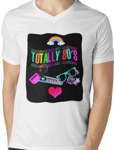 Totally 80's Fun Neon Mens V-Neck T-Shirt