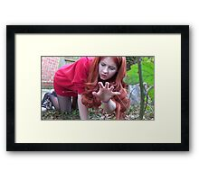 Amy Pond (Flesh and Stone/Time of Angels Cosplay) Framed Print