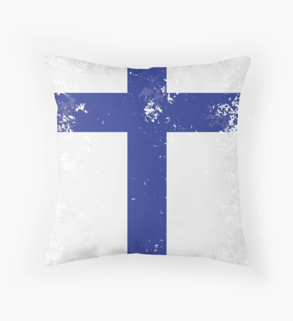 Flag of Finland Throw Pillow
