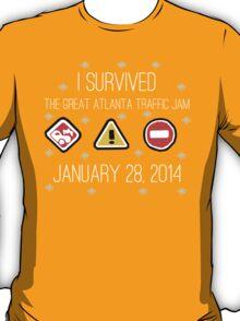 I Survived the Great Atlanta Traffic Jam- White Words T-Shirt