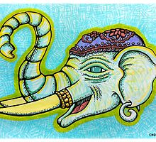 """Elephant of Siam"" Mixed Media by chongolio"
