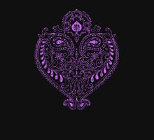 Purple Indian Heart Womens Fitted T-Shirt