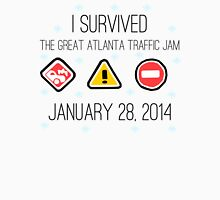 I Survived the Great Atlanta Traffic Jam- Black Words Unisex T-Shirt