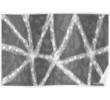A Grey Day, Seen Close Up Through a Snowflake Poster