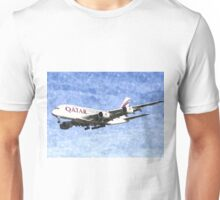 Qatar Airlines Airbus A380 Watercolour Unisex T-Shirt