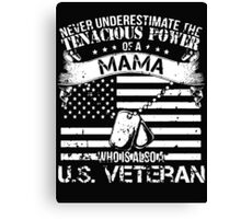 MAMA U.S. VETERAN Canvas Print