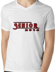 Senior 2014 Red Mens V-Neck T-Shirt