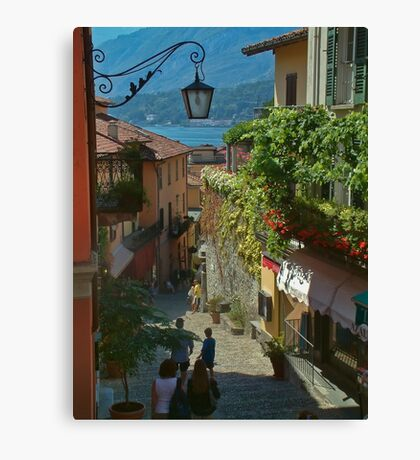 beautiful old town in italy europe Canvas Print