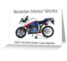 BMW Boxer Cup Replica R1100S Greeting Card