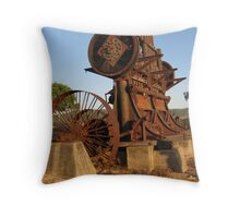 Old Stamper Battery Throw Pillow