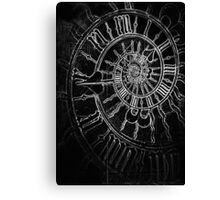 The Passage of Time (blk/wht) Canvas Print