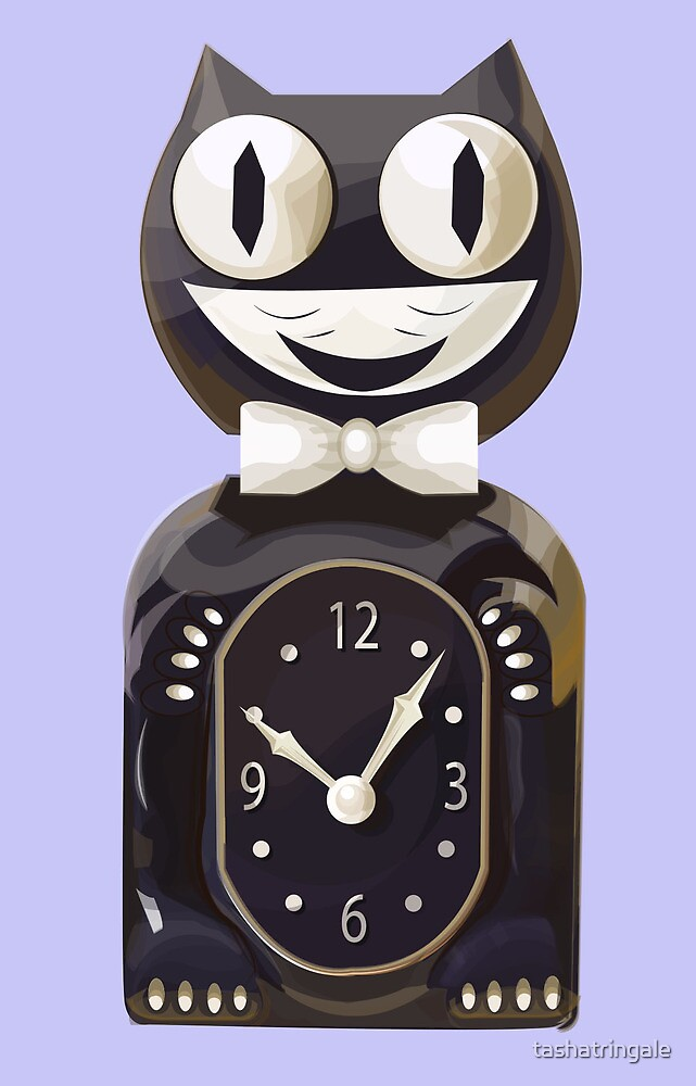 Cat Clock by tashatringale
