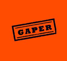 Gaper Stamp (Black) Unisex T-Shirt