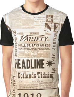 A vintage old news paper print typography  Graphic T-Shirt
