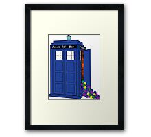 Police Box Yarn Box Framed Print