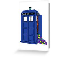 Police Box Yarn Box Greeting Card