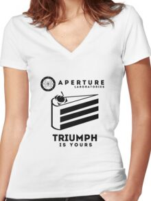 Aperture - Triumph Women's Fitted V-Neck T-Shirt