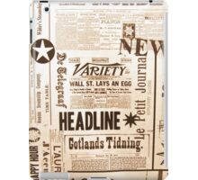 A vintage old news paper print typography  iPad Case/Skin