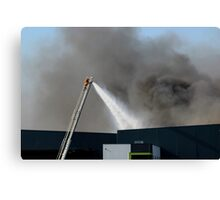 Factory Fire Canvas Print