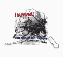 I SURVIVED GOOD FRIDAY EARTHQUAKE W/ AK SILHOUETTE by Ed Rosek