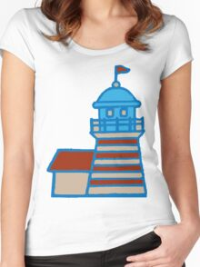 Cute Lighthouse Women's Fitted Scoop T-Shirt