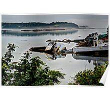 Fishing boats shipwrecks Poster