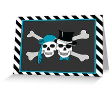pirate couple Greeting Card
