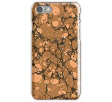 Antique Marbled Paper Brown Gold iPhone Case/Skin