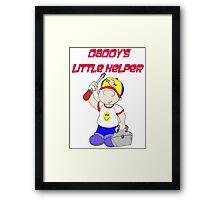 Dads little Helper Framed Print