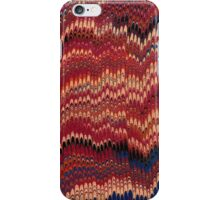 Antique Marbled Paper Red Yellow iPhone Case/Skin