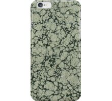 Antique Marbled Paper Green White iPhone Case/Skin