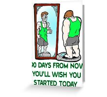 90 Day Challenge Greeting Card
