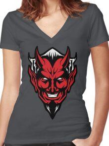 Devil Man Women's Fitted V-Neck T-Shirt