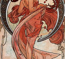 'Dance' by Alphonse Mucha (Reproduction) by Roz Barron Abellera