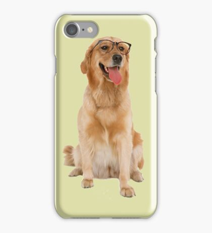 Dog with glasses iPhone Case/Skin