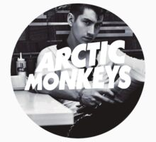 Arctic Monkeys Alex Turner in a Diner - Circle Logo by cbazoe