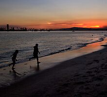 Sunset playtime by Celeste Mookherjee